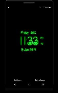Love Digital Clock poster
