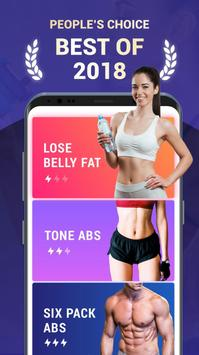 Lose Belly Fat in 30 Days - Flat Stomach poster