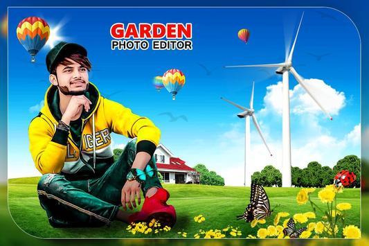 Garden Photo Editor: Garden photo frame poster