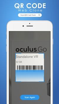 QR scanner : Web Clone poster