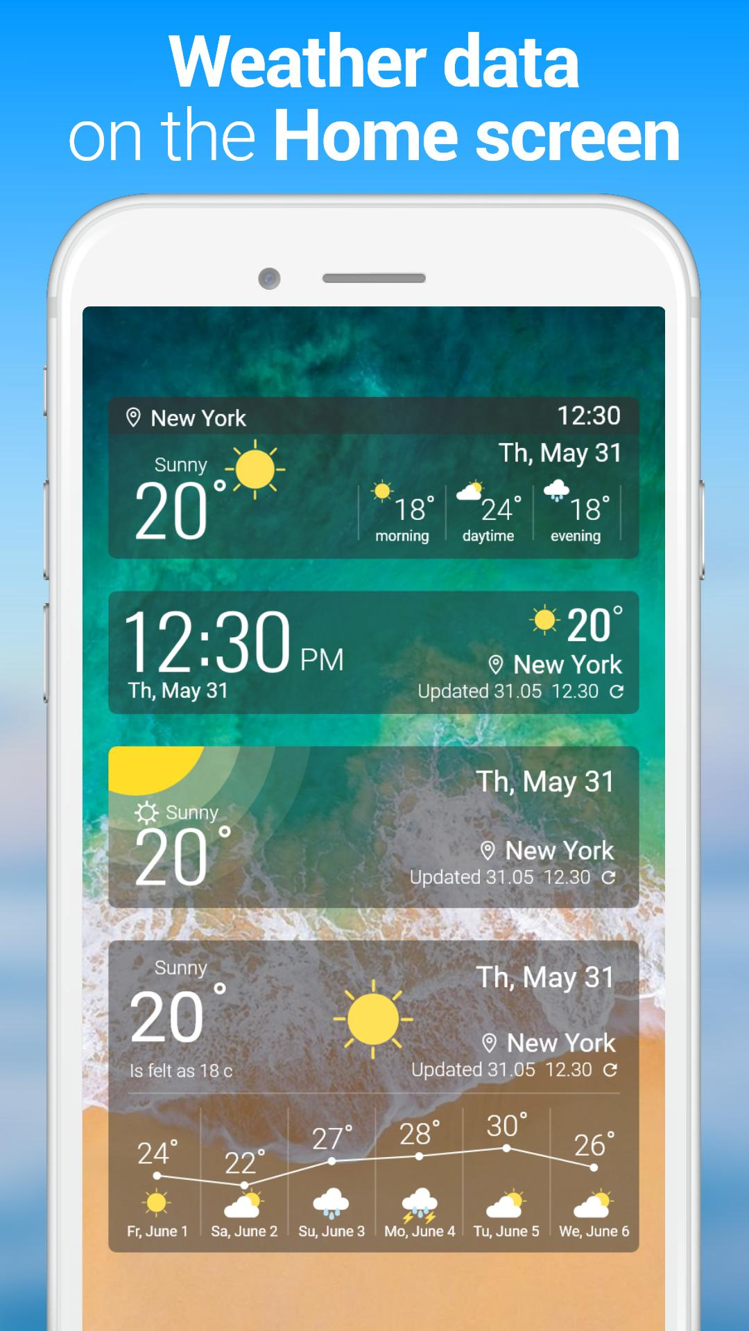 Weather forecast app - Widget & Clock for Android - APK Download