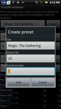 TCGLifeCalculator screenshot 2