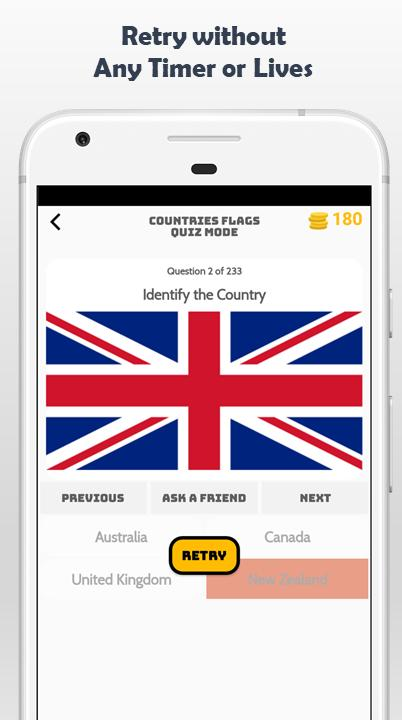 World Geography Quiz Game - Flags Maps Currency for Android