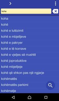Albanian Turkish dictionary poster