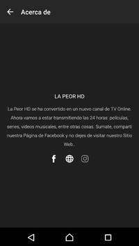 La Peor HD (Canal TV Online) screenshot 2