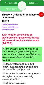 TEST ESTATUTO BÁSICO EMPLEADO PÚBLICO screenshot 11
