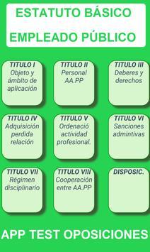 TEST ESTATUTO BÁSICO EMPLEADO PÚBLICO screenshot 9