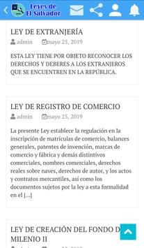 Leyes de El Salvador screenshot 4