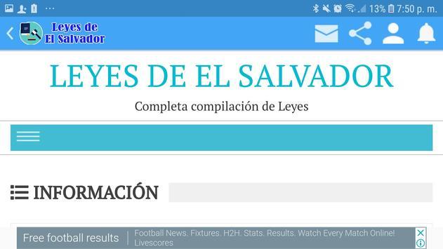 Leyes de El Salvador screenshot 6