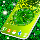 Leaves Analog Clock Live Wallpapers APK