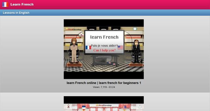 Learn French Free screenshot 8