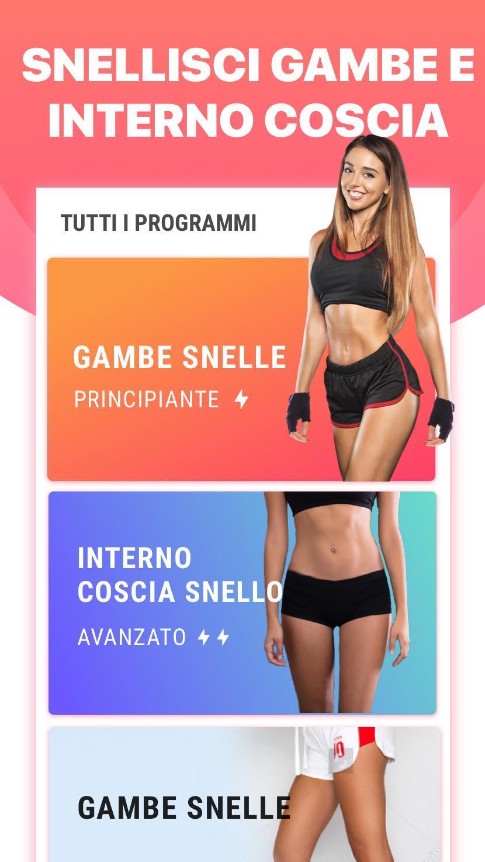 Esercizi Per Gambe Snelle Snellire Le Cosce For Android Apk Download