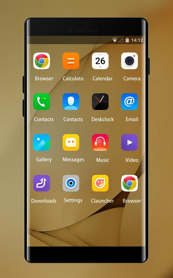 Theme for Lenovo K8 Plus HD: Gold Wallpaper for Android