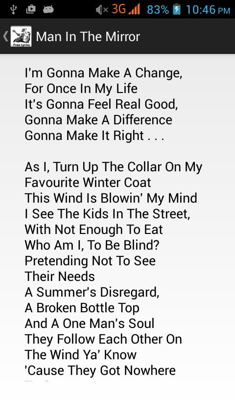 Michael Jackson Lyrics Free For Android Apk Download