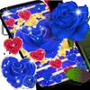 ikon Blue golden rose live wallpaper