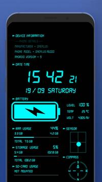 Jam Digital & Cas Bateri syot layar 4