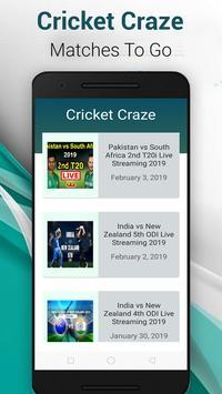 Live Cricket Craze Pro screenshot 1