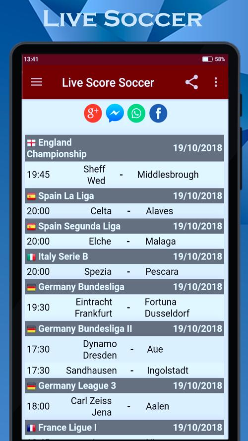 Soccer ⚽️ Live Scores Sport Football Match Results for