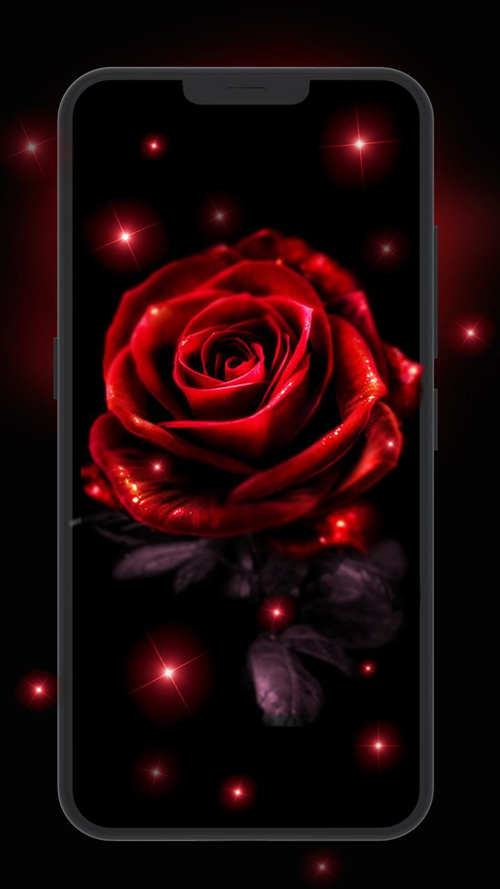 Neon Red Rose Live Wallpaper For Android Apk Download