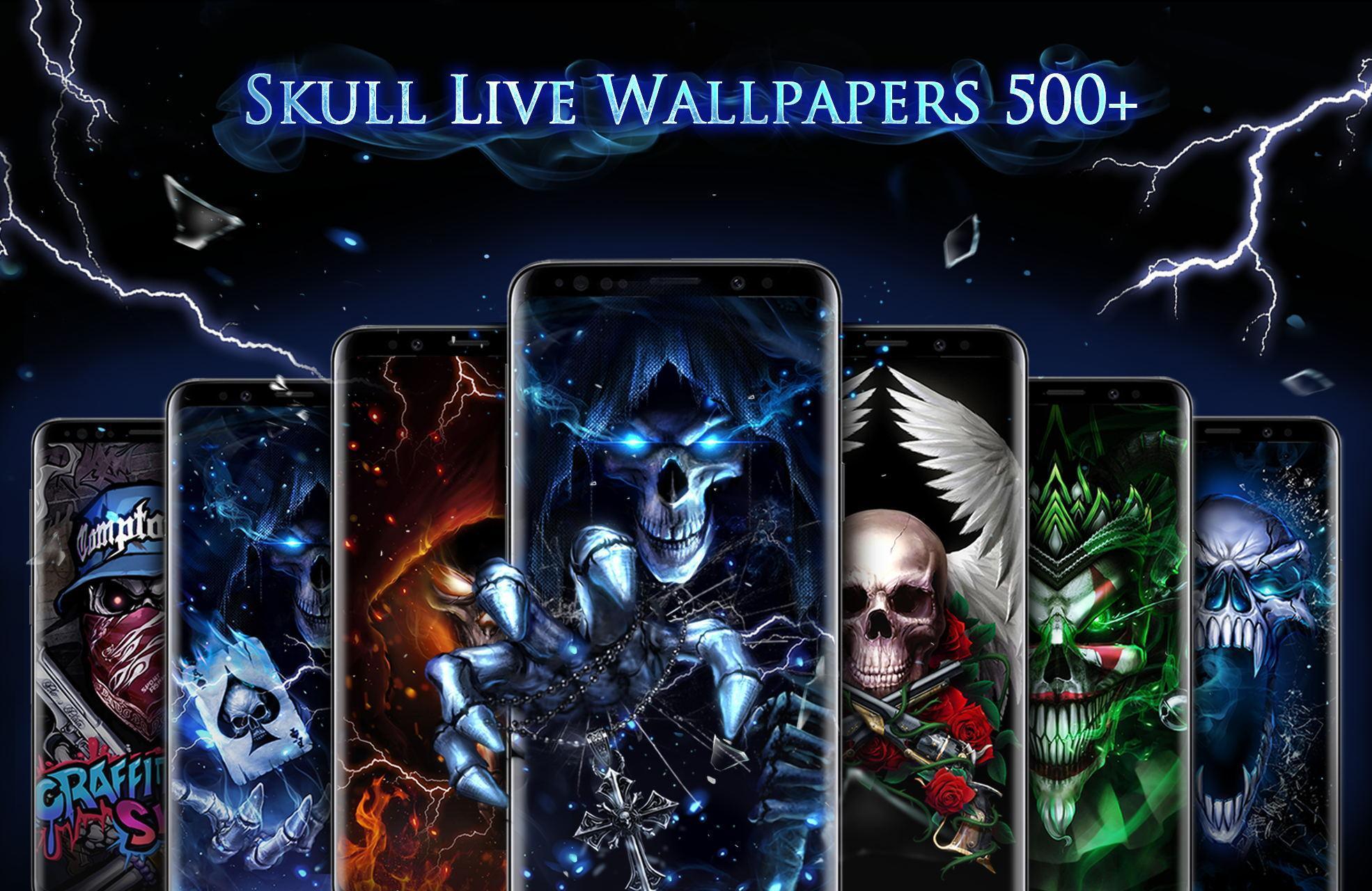 Blue Fire Skull Bone Live Wallpaper For Android Apk Download