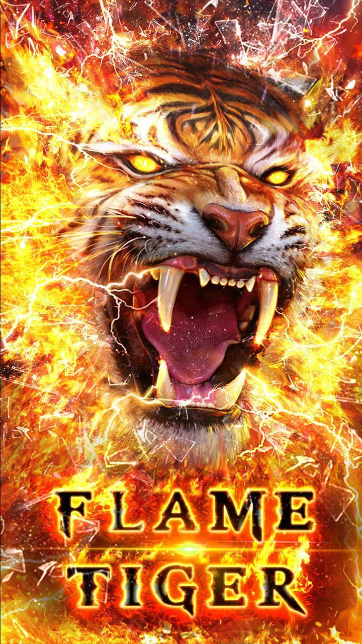 Horrible Fire Tiger Live Wallpaper For Android Apk Download