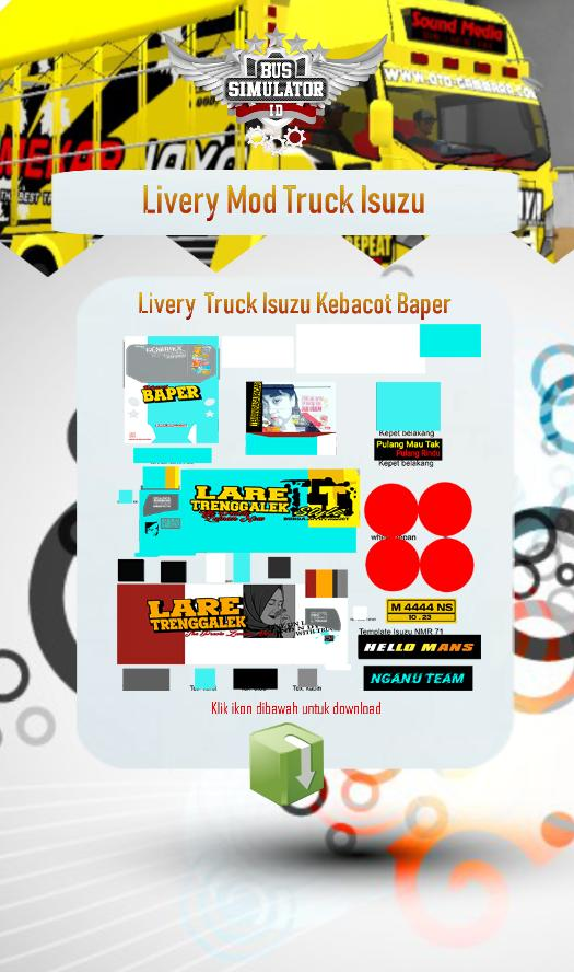 Livery Mod Truck Isuzu Nmr71 For Android Apk Download