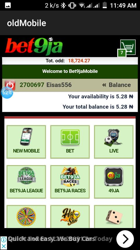 bet9ja old-mobile for Android - APK Download