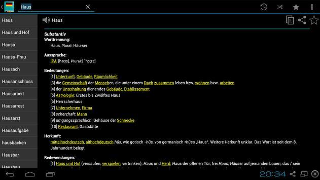 German Dictionary Offline screenshot 15