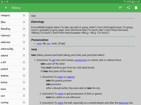 11 Schermata Dizionario Inglese - Offline