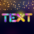 Lighting Text Art - Lights effect on Text