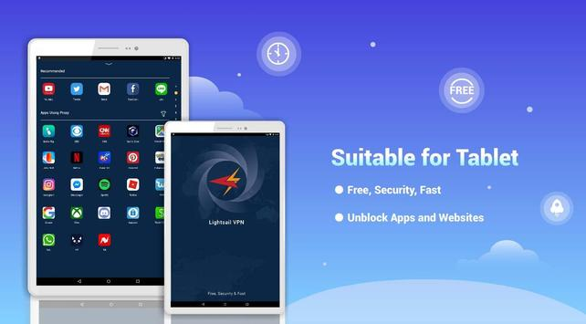 LightSail VPN, unblock websites and apps for free 截圖 6