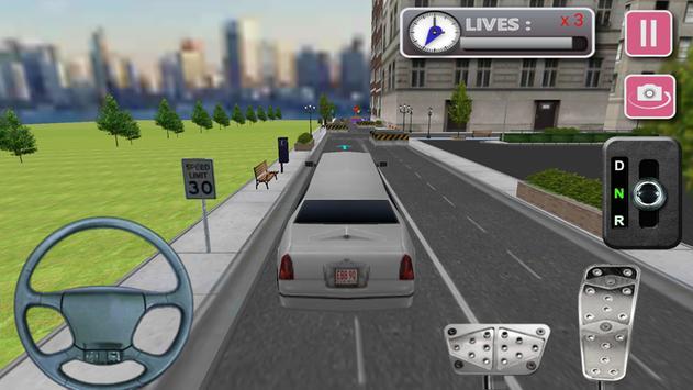 3d Limo Car Driving screenshot 1