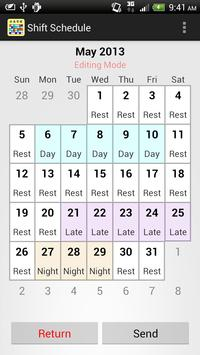 Shift Calendar (since 2013) screenshot 1