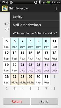 Shift Calendar (since 2013) screenshot 4