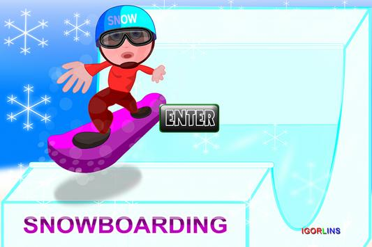 Snowboarding LINS poster