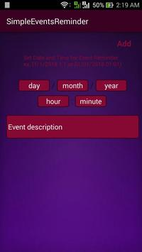 Simple Events Reminder poster