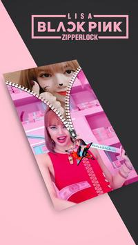 Lisa Blackpink Lock Screen Zipper KPOP poster