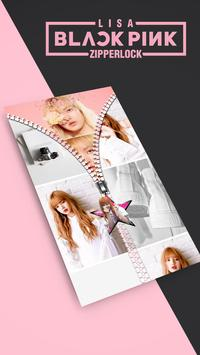 Lisa Blackpink Lock Screen Zipper KPOP screenshot 2