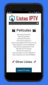 Listas IPTV 📺 Actualizadas 📲 Gratis screenshot 2
