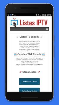 Listas IPTV 📺 Actualizadas 📲 Gratis screenshot 3