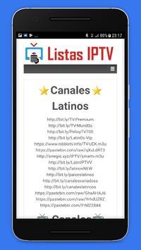 Listas IPTV 📺 Actualizadas 📲 Gratis screenshot 4