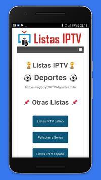 Listas IPTV 📺 Actualizadas 📲 Gratis screenshot 5
