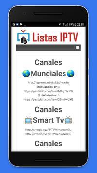 Listas IPTV 📺 Actualizadas 📲 Gratis screenshot 6