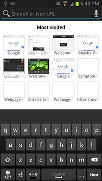 SETT Sinhala Tamil web browser screenshot 1