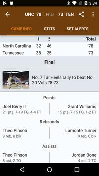 Sports Alerts - NCAA Basketball edition تصوير الشاشة 1