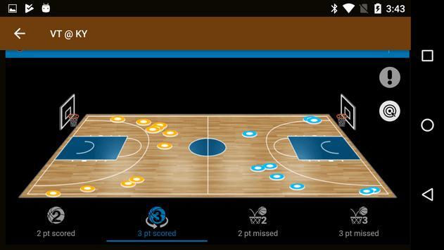 Sports Alerts - NCAA Basketball edition تصوير الشاشة 2