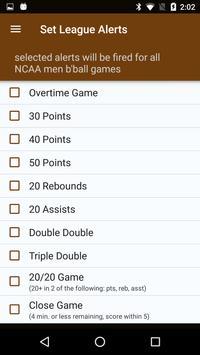 Sports Alerts - NCAA Basketball edition تصوير الشاشة 6