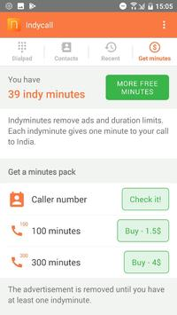 IndyCall - Free calls to India स्क्रीनशॉट 4
