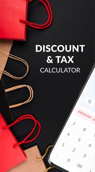 Discount and tax percentage calculator poster