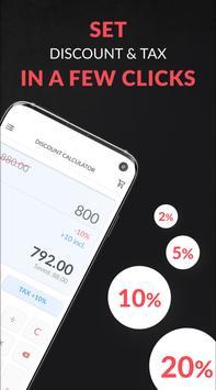 Discount and tax percentage calculator screenshot 1